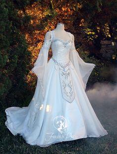 Legend of zelda wedding gown Fairytale Dress, Fairy Dress, Pretty Dresses, Beautiful Dresses, Bridal Gowns, Wedding Gowns, Fantasy Wedding Dresses, Fantasy Gowns, Medieval Dress