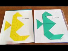 How to use my Ocean Tangrams resource - YouTube