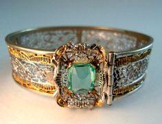Pierced Filigree Hinged J.J. WHITE Bracelet by RenaissanceFair
