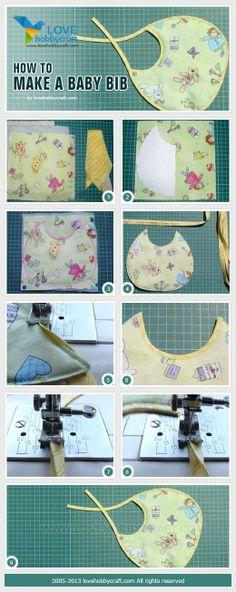 How to make a baby bib | crafts tutorials by Ada123