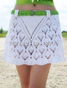 Crochet skirt with diagram