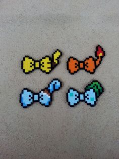 Hair Bows or Bow Ties Pokemon Inspired Bows by BurritoPrincess