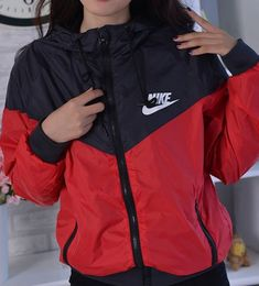 """Sporty Outfits : Description """"NIKE"""" Women Fashion Hooded Top Pullover … Sporty Outfits : Description """"NIKE"""" Women Fashion Hooded Top Pullover Sweater Sweatshirt from Shop more products from on Wanelo. looks. Hoodie Outfit, Windbreaker Outfit, Nike Windbreaker Jacket Womens, Nike Jackets For Women, Cute Comfy Outfits, Trendy Outfits, Sporty Outfits Nike, Sneaker Outfits, Teenage Outfits"""