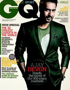 Ajay Devgn. GQ India November 2012.