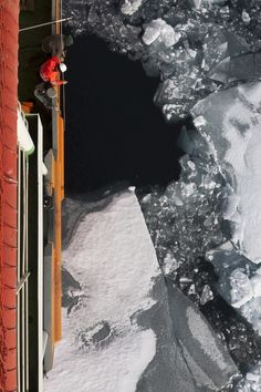 """The Arctic Ocean. Unlike in the Atlantic or Pacific, where the water gets colder as it gets deeper, the Arctic is upside-down. The water gets warmer as it gets deeper. The reason is that warm, salty Atlantic-originating water that flows into the Arctic from the south is more dense, and so it nestles beneath a colder, fresher surface layer that is often capped by floating sea ice. This state of """"stratification"""" makes the Arctic Ocean unique, they also become inverted."""