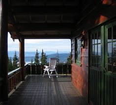 "You don't need much ""on the front porch"" when the view is this spectacular!"