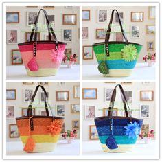 Beach Basket Beach Basket, Resort Wear, Straw Bag, How To Wear, Bags, Fashion, Handbags, Moda, Fashion Styles