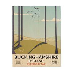 Buckinghamshire England railway travel poster