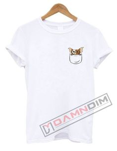 Gizmo Pocket T Shirt. cotton t-shirt (except for heather colors, which contain polyester) by teesbell. Funny Graphic Tees, Shirt Designs, Mens Fashion, Unisex, Pocket, Mens Tops, T Shirt, Shopping, Things To Sell