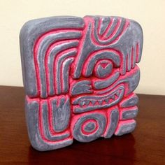 AND IT CAME TO PASS - BOOK OF MORMON LDS MAYAN ARTIFACT UTCHI GLYPH DESK ART