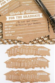 Graduation Advice Cards with a academic cap shape sends your words of advice and well wishes right to the new graduate! Graduation Party Desserts, Graduation Party Centerpieces, Graduation Party Planning, College Graduation Parties, Graduation Celebration, Graduation Party Decor, Graduation Invitations, Graduation Ideas, Grad Parties