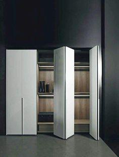 Ideas bedroom wardrobe doors design for 2019 Wooden Wardrobe, Bedroom Wardrobe, Corner Wardrobe, Mirrored Wardrobe, Small Wardrobe, White Wardrobe Closet, Wardrobe Storage, Closet Storage, Storage Room