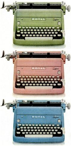 Would love to have a colored typewriter on my bookshelf!