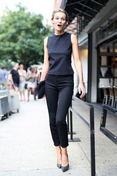 NYFW Street Style Day 2: Nothing wrong with these basics.