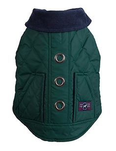 "Fab Dog Reversible Barn Dog Jacket, Hunter, 14"" Length * Check out the image by visiting the link."