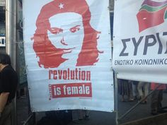 It even included nationally-known imagery, like a woman in the image of Che Guevara promoting socialist feminism. Paper Shopping Bag, Feminism, Che Guevara, Reusable Tote Bags, Image, Woman, Women