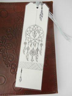 Marque-page attrape-rêve, encre de chine : Marque-pages par licorne-indigo