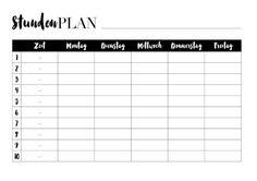 Druckbarer Zeitplan und Wochenplan – Kathie's Cloud - New Sites School Planner, School Calendar, Student Planner, Life Planner, Calendar Organization, School Organization, Timetable Template, Checklist Template, Ideas Habitaciones