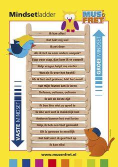 Hang deze A2-poster in je klas en de kinderen kunnen gemakkelijk vanuit een vaste gedachte een beter aansluitende groeigedachte kiezen. Co Teaching, Teaching Social Skills, Solution Focused Therapy, Ot Therapy, Classroom Expectations, Visible Learning, Leader In Me, School Posters, Kids Behavior
