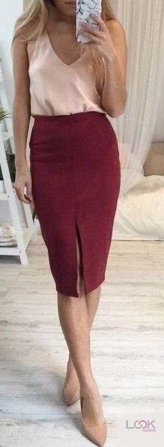 Look! Прямая юбка миди! 1