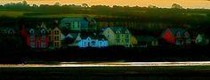 Parrog sea wall. Wales.