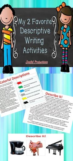 Young writers can often narrate a story or persuade their reader, but most of their writing lacks the descriptions that make their written words come to life in a reader's mind. This product is 2 of my favorite writing activities that will help your students practice bringing their characters or settings to life!  Enjoy!