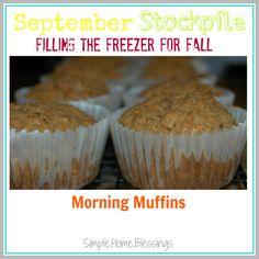 September Stockpile: Morning Muffins