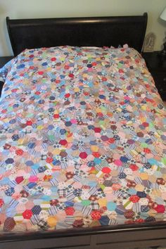 Vintage Mid Century Quilt Top Unfinished made from by rarefinds4u