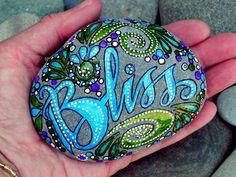 Bliss...Follow Your's /Painted Rock/ Sandi Pike Foundas / Cape Cod. 59.00, via Etsy.