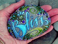 Bliss...Follow Your's /Painted Rock/ Sandi Pike Foundas / Cape Cod. 59.00, via Etsy.