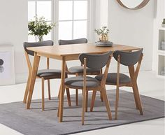 Lowville Extendable Dining Set with 4 Chairs Mikado Living