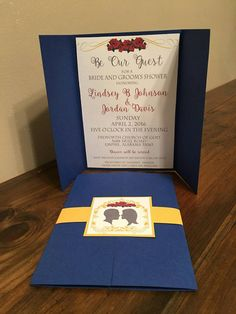 Beauty and the Beast Bridal Shower Invitations