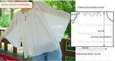 Summer blouses and tops . Discussion on LiveInternet - Russian Online Diaries Service Sewing Patterns Free, Sewing Tutorials, Clothing Patterns, Sewing Blouses, Diy Tops, Dress Making Patterns, Diy Clothing, Sewing Techniques, Dressmaking