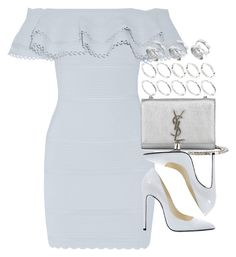 """""""Look #481"""" by foreverdreamt ❤ liked on Polyvore featuring Alexander McQueen, ASOS, Balmain and Yves Saint Laurent"""