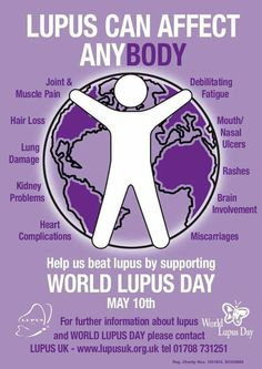 World Lupus Day - help increase awareness Lupus Uk, Lupus Facts, Cancer, Lupus Awareness, Abdominal Pain, Chronic Fatigue Syndrome, Invisible Illness, Autoimmune Disease, Chronic Pain