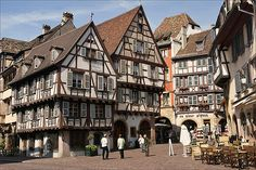 Half timbered houses in Colmar, France
