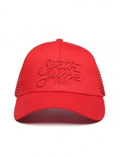 Sixth June - Baseball Cap Rood - mooie petjes dames