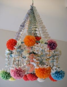 I was in Hamtramck Michigan for Thanksgiving and went to the Polish Art Center. I bought this beautiful paper chandelier. It is made from tissue paper but the colors seem to have faded over time. Paper Art, Paper Crafts, Diy Crafts, Paper Chandelier, Chandelier Ideas, Flower Chandelier, Chandelier Creative, Chandelier Planter, Christmas Chandelier