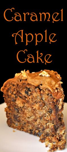 Brown Sugar Frosting tops this Caramel Apple Cake.... Seriously Good!