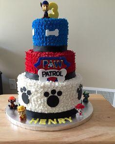 Paw Patrol Birthday Decorations, Paw Patrol Birthday Cake, Paw Patrol Party, 2 Year Old Birthday Party, Birthday Party At Park, 2nd Birthday, Torta Paw Patrol, Cakes For Boys, No Bake Cake