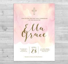 First Communion Invitation Girl, Communion Invitations Girl, First Holy Communion Invitations, Commu Christening Invitations Girl, Holy Communion Invitations, Communion Favors, Boy Christening, Baptism Favors, Boy Baptism, First Holy Communion, Favor Tags, Holi