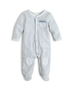 $Bloomie's Infant Boys' Solid Footie, Sizes 3-9 Months - 100% Exclusive - Bloomingdale's