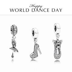 Put on your dancing shoes because today is International Dance Day! Will you celebrate by dancing like nobody's watching? #WorldDanceDay #PANDORA #PANDORAcharm