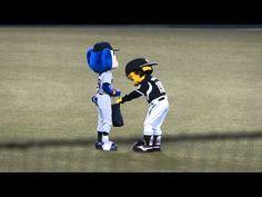 ▶ 2014 7/18 マツダオールスターゲーム トラッキーとドアラさん - YouTube