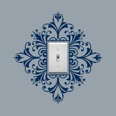 Mirad que curioso, un vinilo decorativo para decorar los interruptores de la luz ¿no queda nada mal verdad?