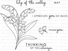 Year of Flowers: Lily of the Valley Stamp Set: Papertreyink