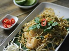 Quick pad thai with prawns   Serves: 2 Prep time: 15 mins