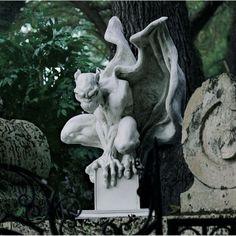 Grotesque gargoyle - Draga the vampire  http://gargoyle-statues.hubpages.com/video/Favourite-Gargoyle-Garden-Statues #gardengargoyles