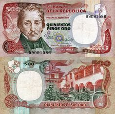 Colombia Pesos banknotes for sale. Dealer of quality collectible world banknotes, fun notes and banknote accessories serving collectors around the world. Over 5000 world banknotes for sale listed with scans and images online. Folding Money, Old Money, Arte Disney, World Coins, Money Matters, Coin Collecting, Vintage World Maps, Yoko, Photographs