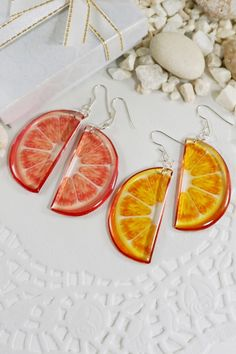 Earrings, Bracelets, Necklaces, Rings, Jewelry Gifts by Galiga Golden Earrings, Wing Earrings, Butterfly Earrings, Small Earrings, Etsy Earrings, Fruit Slices, Colorful Fruit, Fun Fruit, Christmas Gifts For Her